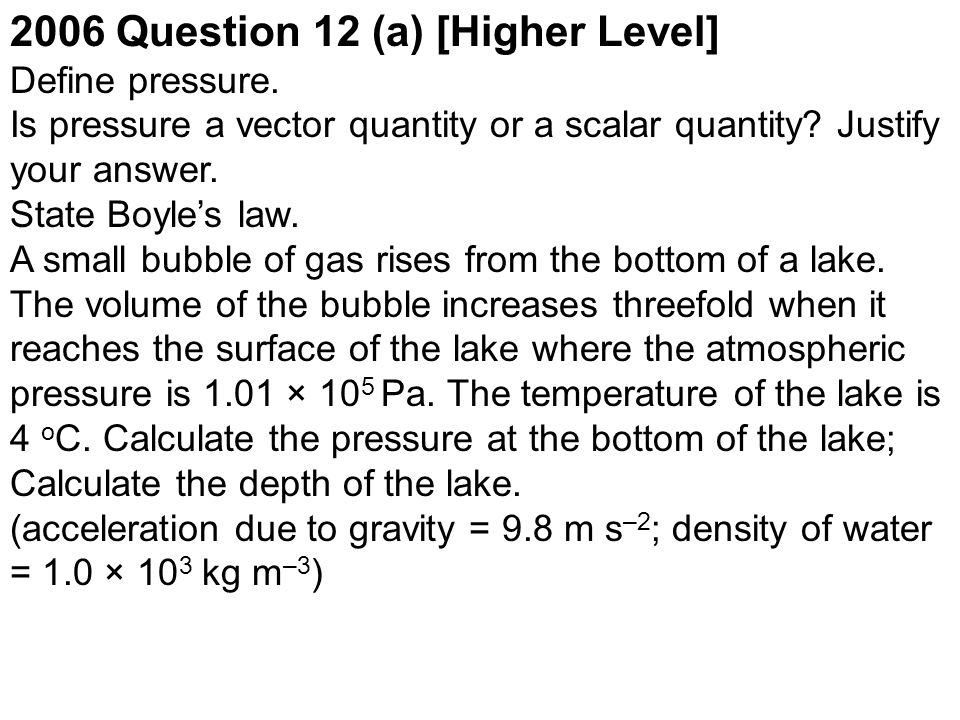 2006 Question 12 (a) [Higher Level]